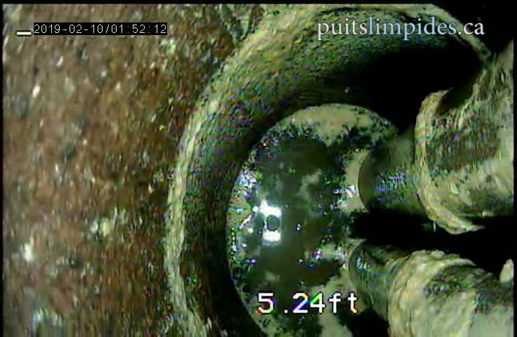 Les propriétaires de ce puits artésien ignoraient totalement la condition de leur eau avant d'en faire l'inspection. Évidemment ce puits n'avait jamais été nettoyé.
