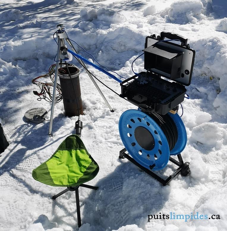 Il est possible de réaliser une inspection de puits artésien même au début et à la fin de l'hiver lorsque la température est clémente.